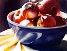 Apples in a Blue Bowl